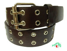 2 Hole Grommet Leather Belt Brown Color Size 3XL / 4XL $5.95 Free Shipping