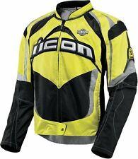 *FREE SHIPPING* ICON Contra Mil-Spec (Yellow) Motorcycle Jacket  Sport Fit