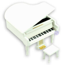 Wooden Piano Music Boxes from Sankyo Design Play more than 20 Melodys (White)