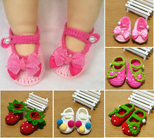 Newborn Infant Girls Crochet Knit Socks Crib Casual Shoes baby Prewalker 3-12M