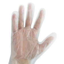 PP Polythene Plastic Disposable Gloves Cleaning Car Catering Food Safe Hygiene