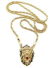 Hot New Celebrity Style Lion Head With Diamond Twister Cut Chain RC34