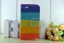 5color Rainbow Leather Case Cover FOR Samsung Galaxy Sony Xperia MOBILE PHONES