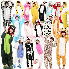 Lovely Unisex Adult Kigurumi Pajamas Anime Cosplay Costume Onesie Dress 18Styles