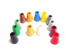 Lego NEW 4589 Round 1 x 1 nose cone Solid colours - Pack of 10