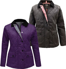 New Womens Padded Quilted Lined Winter Jackets Coats S-XL 8-14