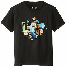 Minecraft Run Away! Glow Officially Licensed Authentic Youth Kids Child T-shirt
