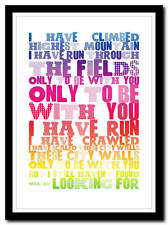 U2 - I Still Haven't Found What I'm Looking For - poster art print - 4 sizes