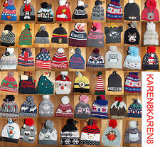 Primark Mens Ladies BOBBLE HAT BEANIE NOVELTY CHRISTMAS Womens