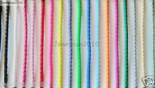 PU Leather Braid Round Rope Hemp Cord Thread For Diy Jewelry Bracelet Necklace