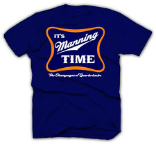 Denver Broncos Shirt - Peyton Manning Jersey - It's Manning Time - NAVY SHIRTS