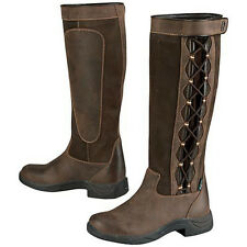 LADIES DUBLIN PINNACLE RIDING YARD STABLE WALKING LEATHER COUNTRY BOOTS SIZE 3-9