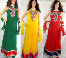 Ladies Indian Long Anarkali Wedding Party Asian Pakistani Traditional Dress