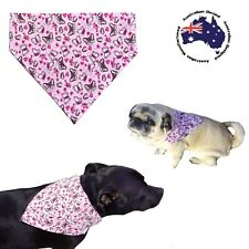 Dog Bandana S M L Pink Butterfly Slides on Collar Pet Fashion Clothes Neck Scarf