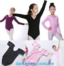New Kids Girls Cotton Ballet Gymnastics Leotard Dance Rhythmic Bodysuit Leotards