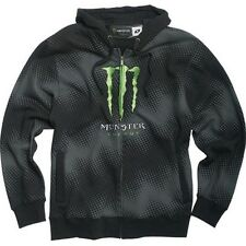 One Industries Monster Pulse Zip-Up Hooded Sweatshirt Black Hoodie CLOSEOUT!