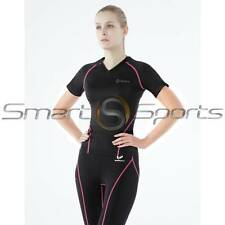 Womens Black Pink Fitted Polo Compression Shirt | Skin Tight | Tesla Baselayer