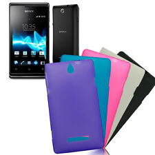 Glossy Frosted TPU GEL Case Cover for Sony Xperia E, C1604, C1605, C1504, C1505