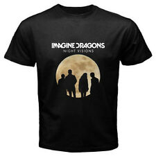 New IMAGINE DRAGONS Rock Band NIGHT VISIONS TOUR Men's Black T-Shirt Size S-3XL