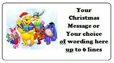 PERSONALISED CHRISTMAS STICKERS, MEDIUM SIZED LABELS, LOTS OF DESIGNS *DISNEY 1*