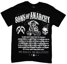 Sons Of Anarchy No Rules No Masters Samcro SOA Officially Licensed Adult T-Shirt