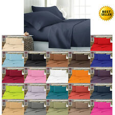 1800 Thread Count 4 Piece Bed Sheet Set All Sizes All Colors FREE SHIPPING!!!