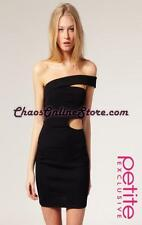 ASOS PETITE Exclusive Asymmetric Bodycon Dress With Cut Out Detail