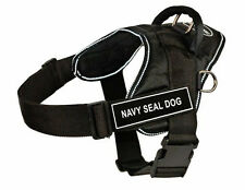 DT Fun Dog Harness in Reflective Trim with Velcro Patch NAVY SEAL DOG