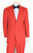 NEW MENS 20MM RED COLOURED SUIT JACKET & TROUSERS