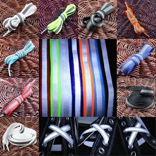Flat Reflective Sneakers Boot Shoe Laces Strings Shoelaces Shoestrings Bootlaces