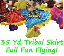 35 yd Gypsy Tribal Fusion Belly Dance Skirt ATS - Free Shipping!