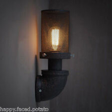 LOFT Vintage industrial MESH Sconce Edison wall light Bulb Warehouse RETRO