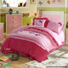 Hello Kitty Adorable 5Pc Pink Twin Full Queen Bedding Sets Quilts Duvet Covers