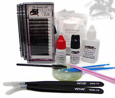 TBC Deluxe Silk Eyelash Extension Kit - Various Sizes, Curls & Width To Choose