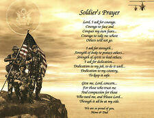 A SOLDIER'S Prayer/Poem Personalized Print **EVERY BRANCH OF MILITARY**