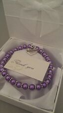 Pearl charm bracelet BRIDESMAID flower girl THANK YOU with GIFT BOX MANY COLOURS