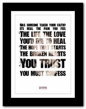 ❤  FOO FIGHTERS Best Of You ❤ lyric typography poster art print A1 A2 A3 or A4