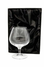 Personalised 13oz Crystal Brandy Cognac Glass, Any Message Or Text Engraved Gift
