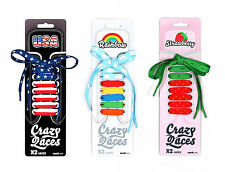 Crazy Laces Rainbow Strawberry USA Design Shoelaces Unique Accessories - GIFTS -
