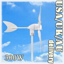 TURBINE 300W WIND GENERATOR MOVE MUTELY GREEN WINDMILL MAX ELECTRICITY FANTASTIC