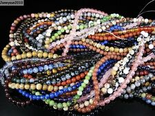 Natural Gemstones 3.5mm ~ 4mm ~4.5mm Round Loose Beads 15'' ~ 16'' Pick Stone