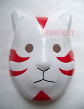 Naruto Shippuuden ANBU Cosplay Red Blue Black Mask Itachi Cat Style Props