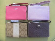 COACH Wristlet Leather Wallet Small coin Purse Bag New Signature 58034 58032 NWT