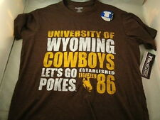 NEW WYOMING COWBOYS MENS FITTED T-SHIRT NCAA PRO EDGE SUPER SOFT! FREE SHIP