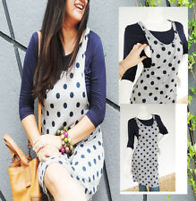POLK-A-DOT Maternity Dresses Nursing Dress Breastfeeding Tunic Clothing Tops NEW