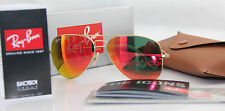 NEW Ray Ban Aviator RB 3025 112/69 55mm 58mm Orange Mirror Lenses Gold Frame