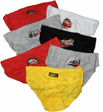 Boys 7 pack Disney Cars Underpants Slips Briefs Sizes 2 to 9 years