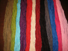 Scarf Shawl Wrap Crinkle Cotton Voile Solid Jewel Tones SPECIAL PRICE ON NOW!