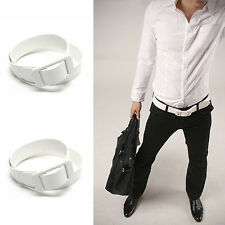 Fashion Chic Men's Working Business Faux Leather Plastic Buckle Waist Belts