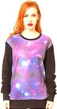 SPACE SKULL PINK PURPLE SWEATER VEST ROLL T-SHIRT TOP GALAXY JUMPER SEXY GOTHIC